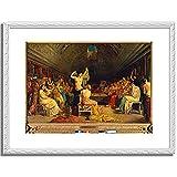 テオドール・シャセリオー Theodore Chasseriau「The Tepidarium. 1853 」 インテリア アート 絵画 プリント 額装作品 フレーム:装飾(白) サイズ:L (412mm X 527mm)