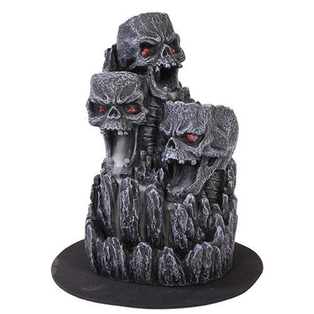 走る不毛幸福ゴシックスカル(お香立て)マウンテンタワー オブジェ Gothic Skull Backflow Incense Tower