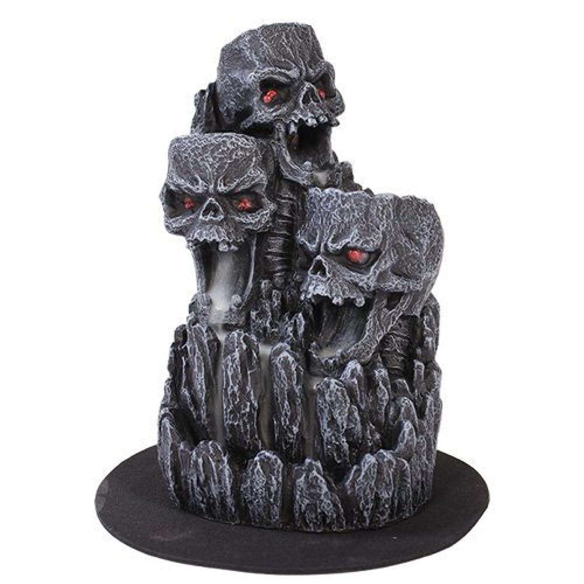 隣人不変創造ゴシックスカル(お香立て)マウンテンタワー オブジェ Gothic Skull Backflow Incense Tower