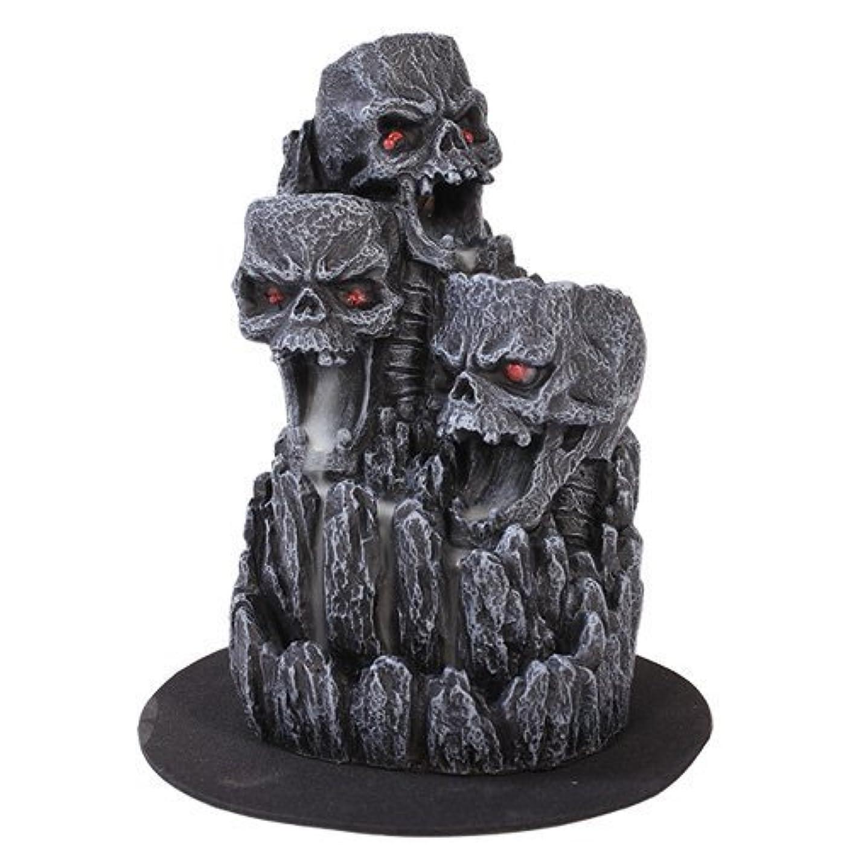 鷹最後にスリチンモイゴシックスカル(お香立て)マウンテンタワー オブジェ Gothic Skull Backflow Incense Tower