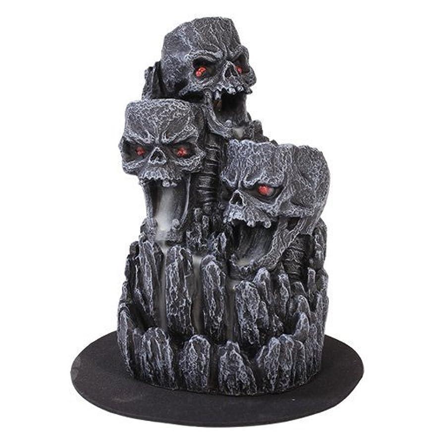熟達した感動する熟達ゴシックスカル(お香立て)マウンテンタワー オブジェ Gothic Skull Backflow Incense Tower