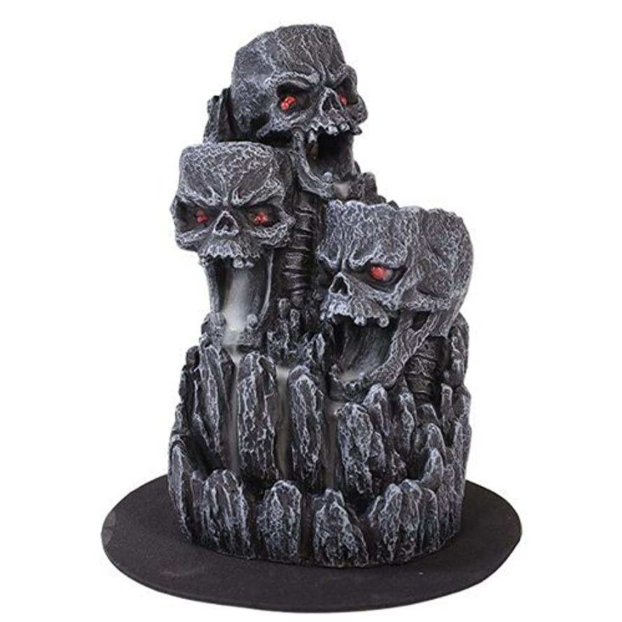 スモッグ細心の大事にするゴシックスカル(お香立て)マウンテンタワー オブジェ Gothic Skull Backflow Incense Tower