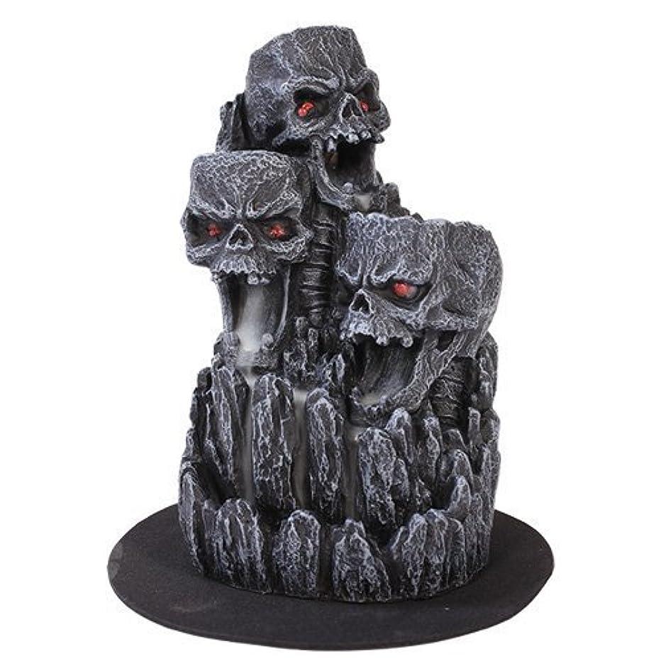 安全性販売員支払うゴシックスカル(お香立て)マウンテンタワー オブジェ Gothic Skull Backflow Incense Tower