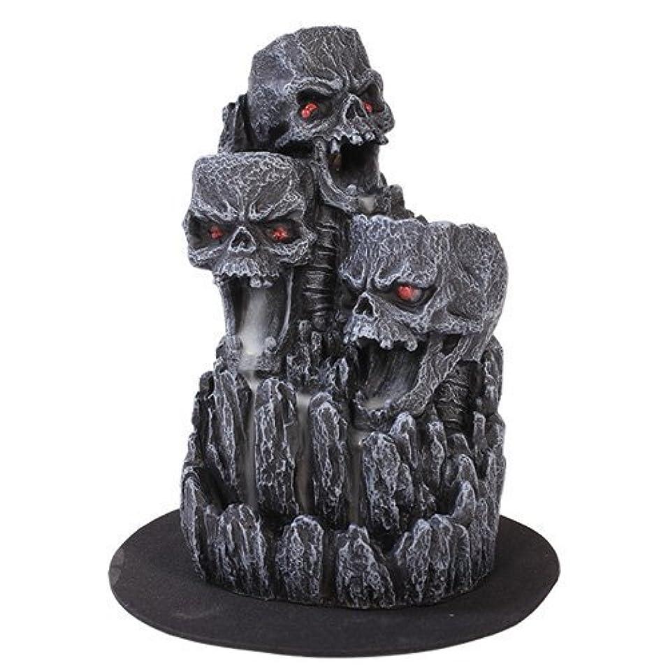 入射ステッチチロゴシックスカル(お香立て)マウンテンタワー オブジェ Gothic Skull Backflow Incense Tower