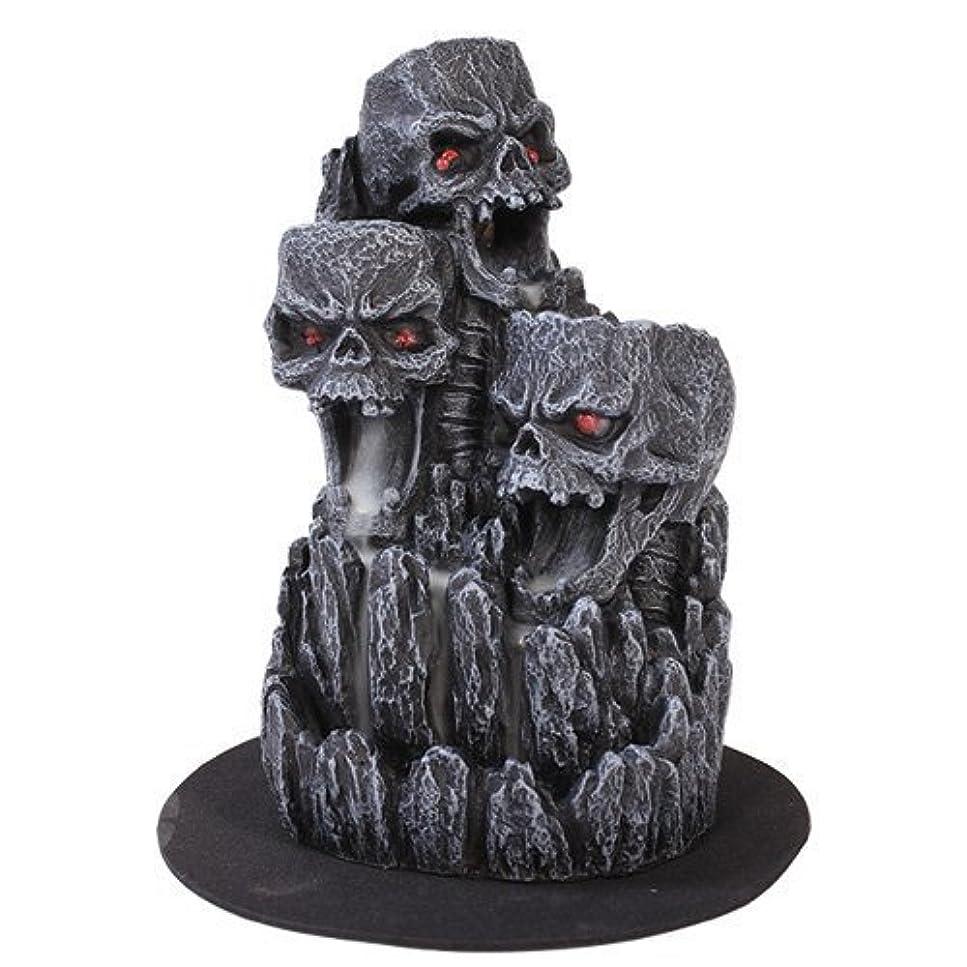 保安マネージャーメキシコゴシックスカル(お香立て)マウンテンタワー オブジェ Gothic Skull Backflow Incense Tower