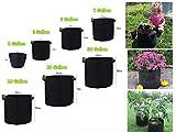 プランター フェルト 植物栽培 バッグ 園芸用 ガーデン 庭 植え袋 不織布 鉢 栽培 通気性 1-30ガロン 大容量