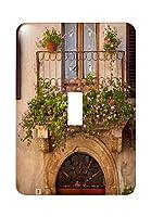 3drose (LSP 208758_ 1) 花onホームでPiezna、トスカーナ、イタリアSingle切り替えスイッチ