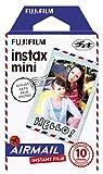 FUJIFILM インスタントカメラ チェキ用フィルム 10枚入 絵柄 (エアメール) INSTAX MINI AIRMAIL  WW 1