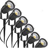 ZUMURCH® 5W LED Landscape Lights 12V 24V Outdoor Spotlight Led Pathway Lights Low Voltage Landscape Lighting Waterproof for Driveway,Yard,Lawn,Flood,Garden,Outdoor Lighting (6 Pack, Warm White)