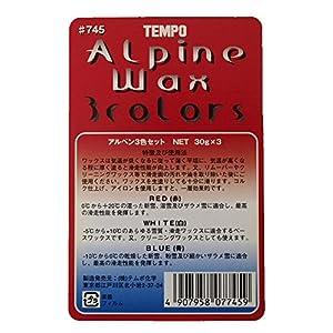 TEMPO スキーワックス アルペン 3色セット(青・赤・白) 90g -10℃~20℃ #0745