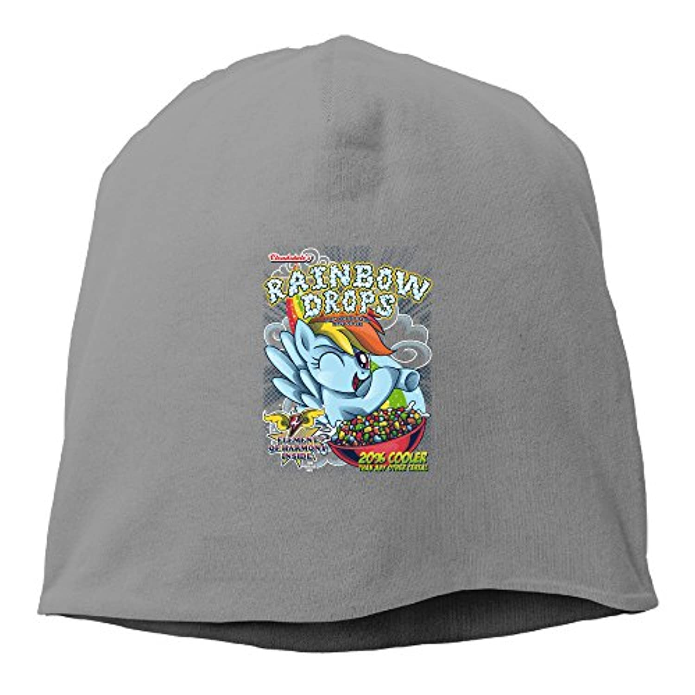 【Dera Princess】ユニセックス ニット帽 Rainbow Drops - Total Awesome!ロゴ コットン ニットキャップ 帽子 オールシーズン 被れる