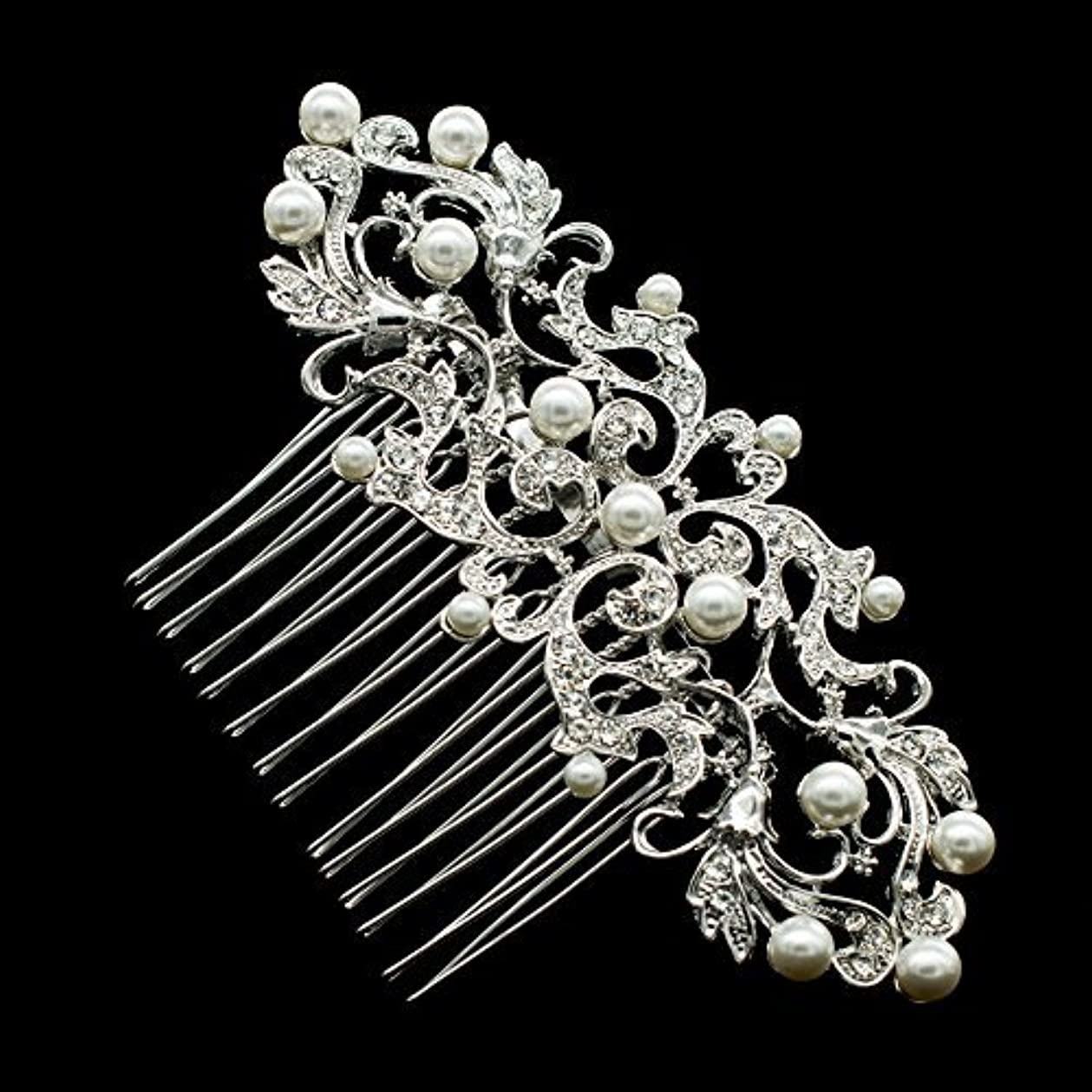 SEP Rhinestone Crystal Wedding Bride Hair Comb Hairpins Jewelry Accessories 2221R [並行輸入品]
