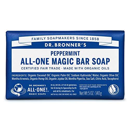 ドクターブロナー マジックソープバー magic soap 石鹸 ペパーミント 140g ネイチャーズウェイ