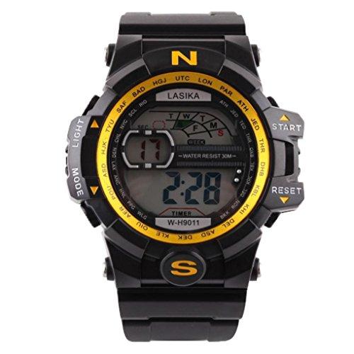 a2a9435fc0 守り人 腕時計 防水 スポーツテーブル 男性 クォーツ デジタル スポーツ ウォッチ 軍隊 シリコーン 防水 腕時計 超