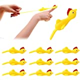 WENFENG 10 PCS Slingshot Chicken Rubber Chicken Flick Chicken Flying Chicken,Turkey Slingshot,Flingers Stress Gag Toys,Funny