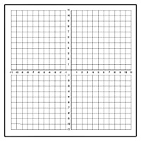Geyer Instructional Products 503009 Dry Erase Peel and Stick Graph Low-Tac (repositionable) 1 squares Numbered Axis [並行輸入品]