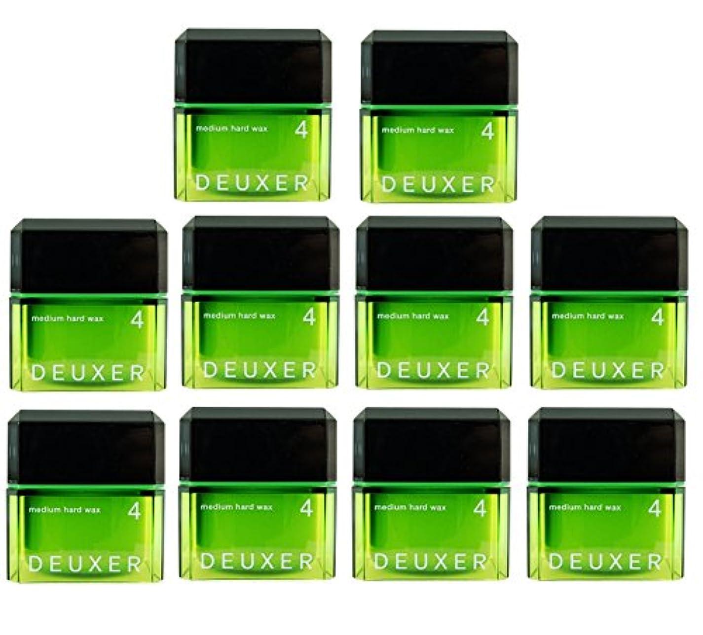 第四明日クロス【X10個セット】 DEUXER デューサー ミディアムハード ワックス 4 80g