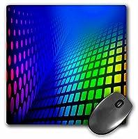 3drose LLC 8x 8x 0.25インチマウスパッド、バックグラウンドでの反射ライトレインボーネオンカラーアート(MP 99580_ 1)