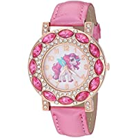 Lucky Unicorn Stones Gold-Tone Analog Quartz Wrist Watch for Girls Luminous Watch Hands.