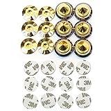 Kasamy スッキリ 高音質 高さ 調整 可能 金属製 金メッキ オーディオ スピーカー インシュレーター スパイク 受け 6 個 組 セット