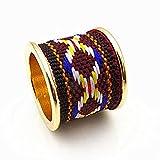 Arizona Pattern Gold Ring 【Brown】 / アリゾナ ゴールド リング / 民族柄 インディアン ジュエリー アクセサリー 指輪 メンズ レディース [並行輸入品]