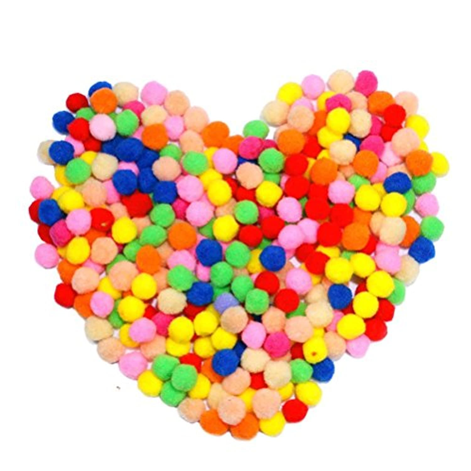 Pom Poms for Hobby Supplies and DIY Creative Crafts Decorations300 Pieces 1 Inch Assorted Colors [並行輸入品]