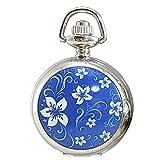 [モノジー] MONOZY ネックレス 時計 ふた付き (青)