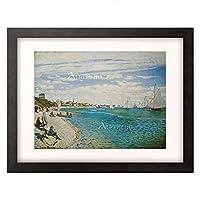 クロード・モネ Claude Monet 「Regates a Sainte-Adresse」 額装アート作品