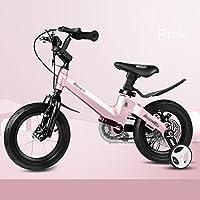 YANFEI 子ども用自転車 子供用自転車サイズ12-14-16-18グレーブルーピンクフェンダーとスタビライザーブラケット 子供用ギフト