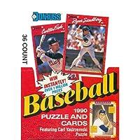 Donruss 1990Baseballパズルとカードワックスボックス( 36Packs )