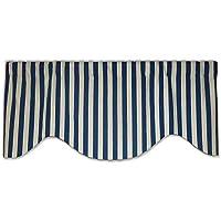 ブルーホワイトノーティカルストライプコットンビーチテーマ飾り布