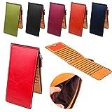 MIOIM 長財布 薄型 二つ折り メンズ レディース カード ケース カード17枚 収納 大容量 財布 PUレザー ウォレット 小銭入れ 男女兼用