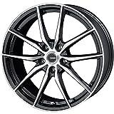 HOT STUFF(ホットスタッフ)G、speed (ジースピード)P-02 アルミホイール4本セット 15インチ6.0J INSET43 PCD100 HOLE5 カラー:メタリックブラックポリッシュ