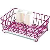 パール金属 食器 水切り かご ミニ ピンク モイスト H-3173
