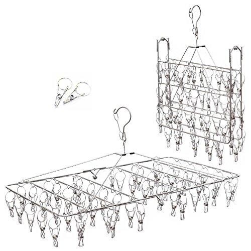 (アーネス)Arnes 主婦が選んだ ステンレス ピンチハンガー 洗濯ピンチ 52本【保証付】