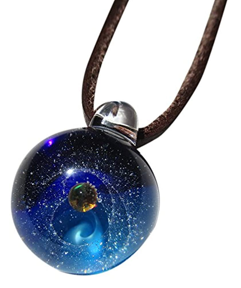 忙しいシプリー子羊銀河ガラス ブルー シルバーラウンド DW1188