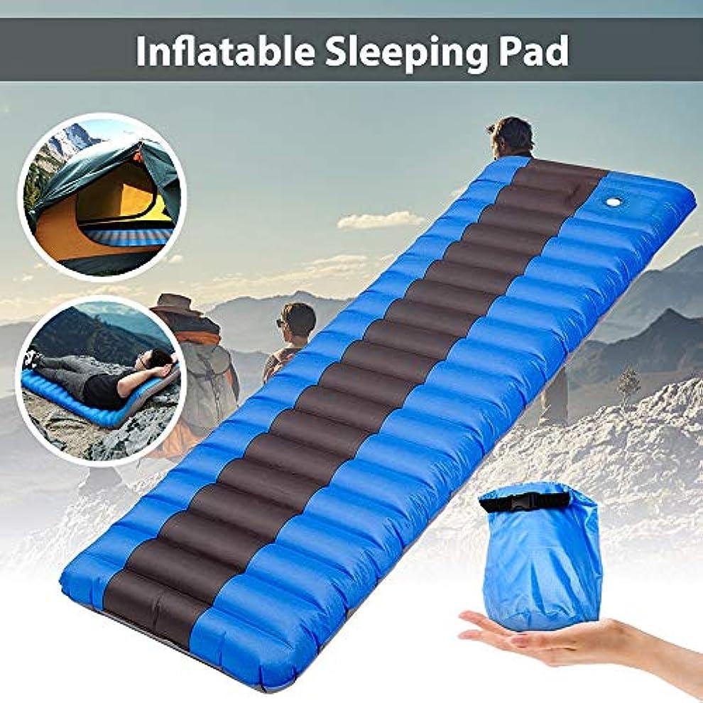 冷淡なさておき対ハイキングキャンプピクニックすべての屋外の冒険のためのインフレータブル睡眠クッション、超軽量の防水バックパックエアクッションコンパクトで快適なグレート