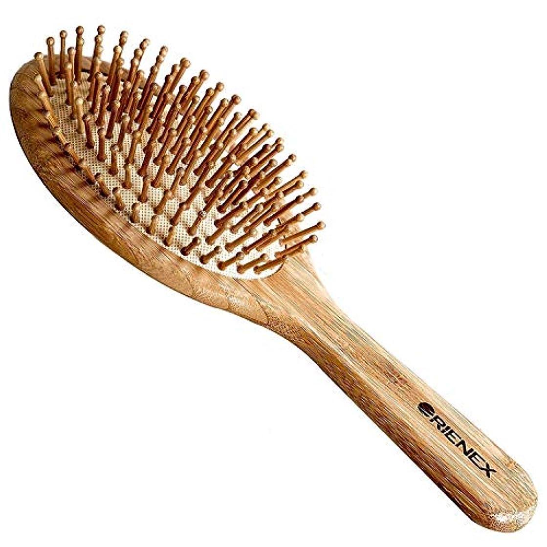 報復ケージの前でOrienex ヘアブラシ ヘアケア 木製 頭皮 マッサージ 艶髪 木製櫛 美髪ケア