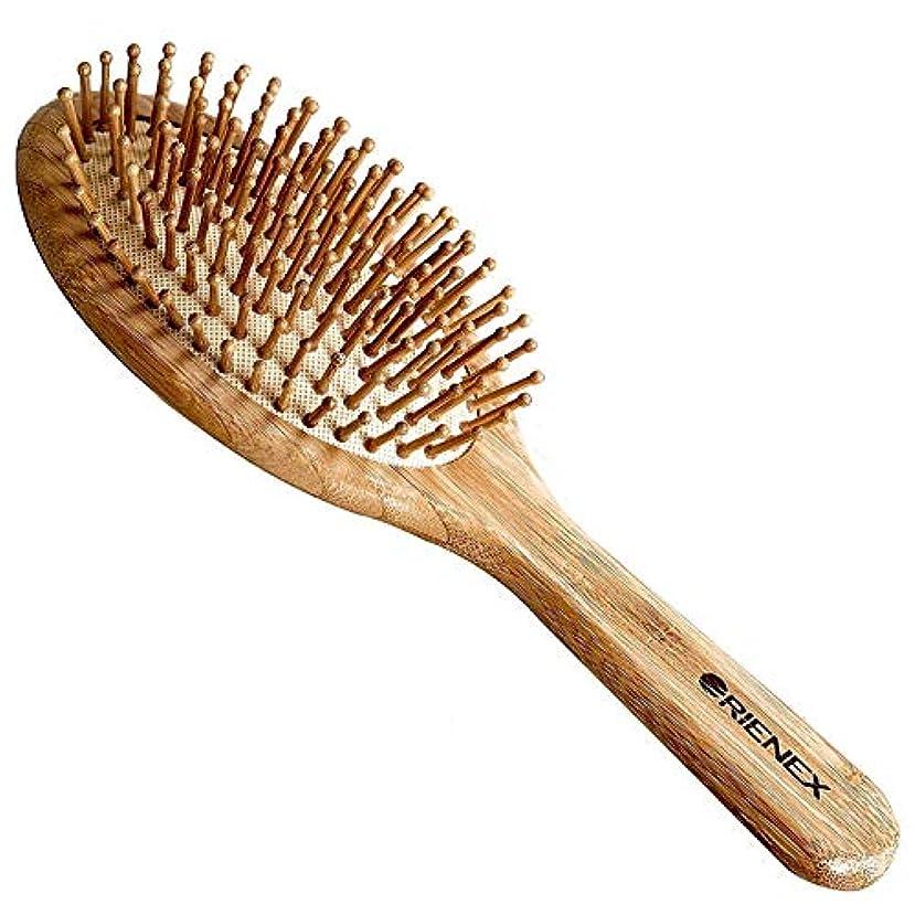 殺人ドック伝染性Orienex ヘアブラシ ヘアケア 木製 頭皮 マッサージ 艶髪 木製櫛 美髪ケア