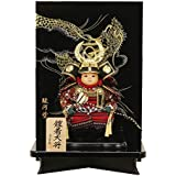 五月人形 鎧着大将 平飾り 徳川家康 駿河塗幅35cm[fz-85]