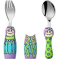 (Fairy Princess) - Eat4Fun Duo Collection Kids Fork & Spoon, Fairy Princess
