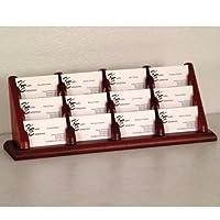 器具表示12ポケットカウンタートップビジネスカードホルダー104145-p Mahogany