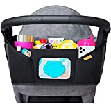 liuliuby Stroller Organizer - Large Storage Space with Easy Access Wipe Pocket and Customizable Compartments - Universal Fit - 2019 New Launch