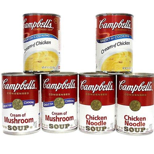 キャンベル チキンヌードル・クリームチキン・マッシュルーム 3種6缶セット (Campbell's SOUP)