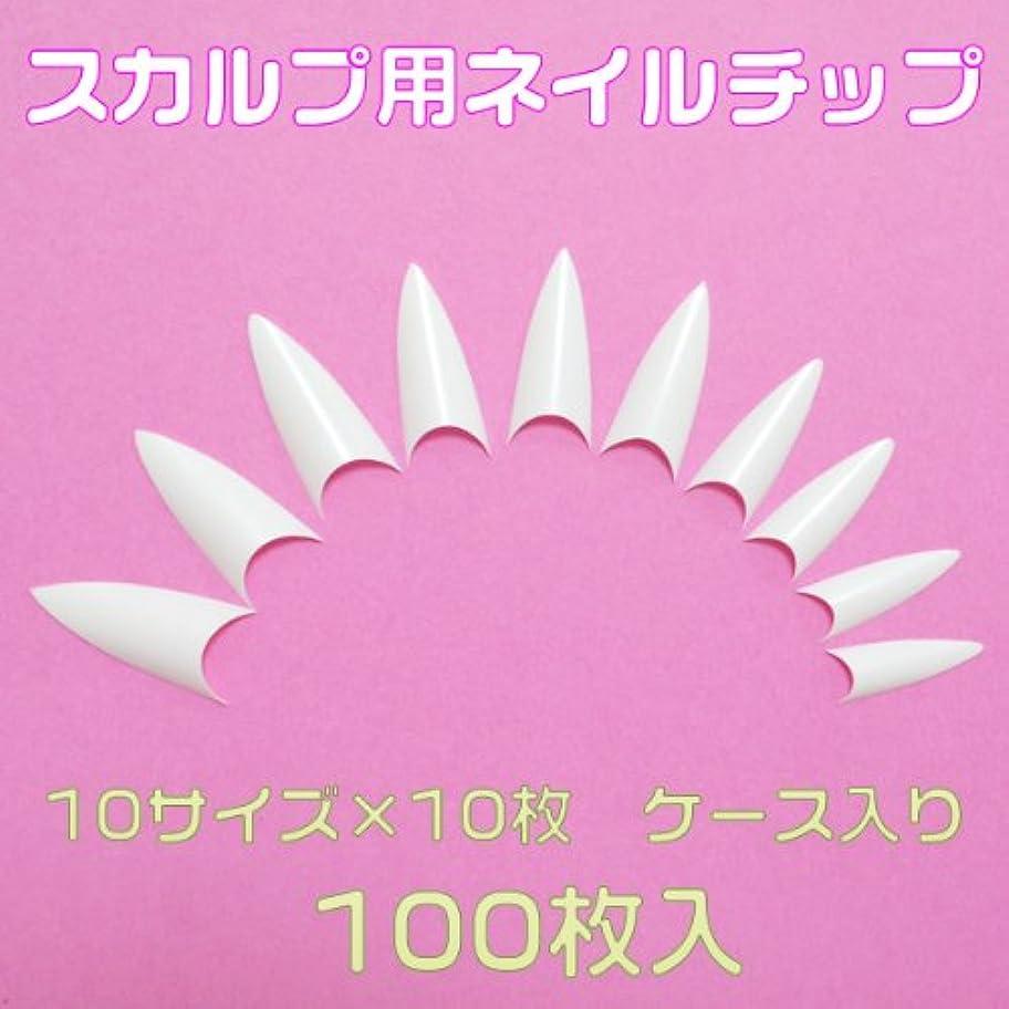 クリップ蝶プラス講義シャープポイント 先端が尖ったネイルチップ10サイズ100枚 白 ケース入[#c4]とんがりネイルチップ