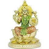 Hindu Goddess Lakshmi Lotus Sculpture - Hinduism Religious Large Laxmi Statue for Home Puja Diwali Gifts Decor - Indian Templ