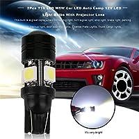 2個のT10 LED W5W車のLEDオートランプ12VのLED電球プロジェクターレンズで