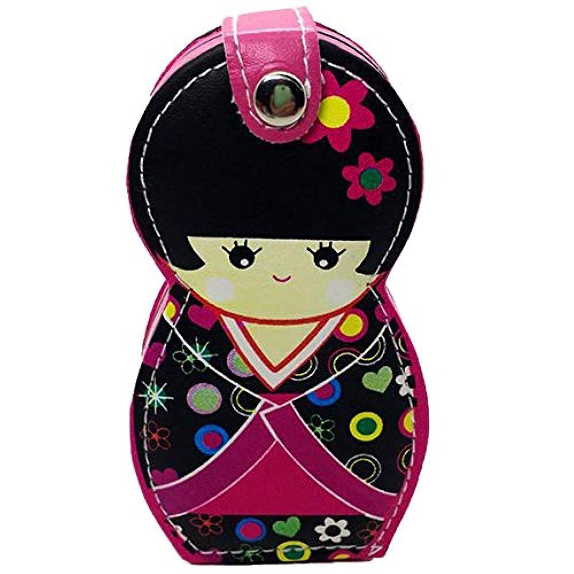 ブリッジ消費者ラップslQinjiansav ネイルアート&ツールポーチ6Pcs ロシア日本ドールネイルシザーキューティクルクリッパーマニキュアクリーニングツール - ホワイト