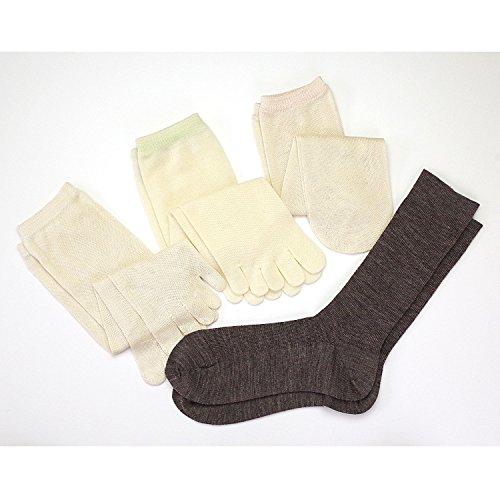 冷えとり靴下 4枚重ね履きセット 日本製 【841 奈良県広陵町の冷えとり靴下4足セット】 M オーク