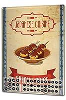 カレンダー Perpetual Calendar Retro Nostalgia Asia japanese cuisine Tin Metal Magnetic